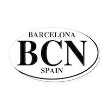 BCNBarcelona Oval Car Magnet
