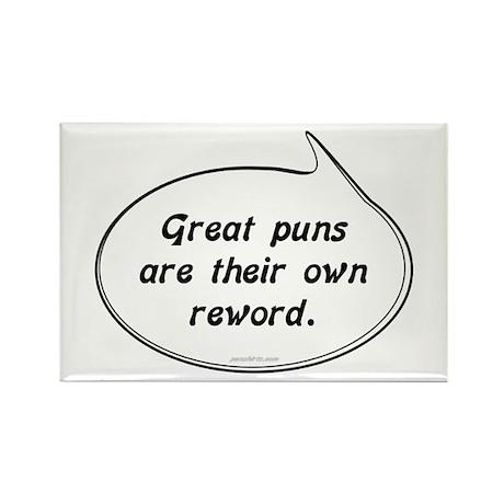 Great Pun humor Rectangle Magnet