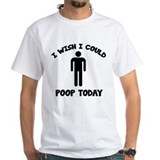 I pooped today Mens White T-shirts