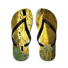 The Kiss by Klimt Flip Flops