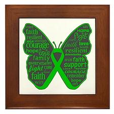 Butterfly Bile Duct Cancer Framed Tile