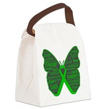 Butterfly Bile Duct Cancer Canvas Lunch Bag