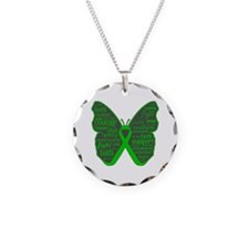 Butterfly Bile Duct Cancer Necklace