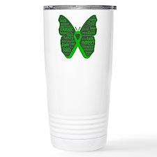 Butterfly Bile Duct Cancer Ceramic Travel Mug