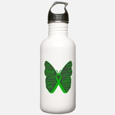 Butterfly Bile Duct Cancer Water Bottle
