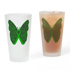 Butterfly Bile Duct Cancer Drinking Glass