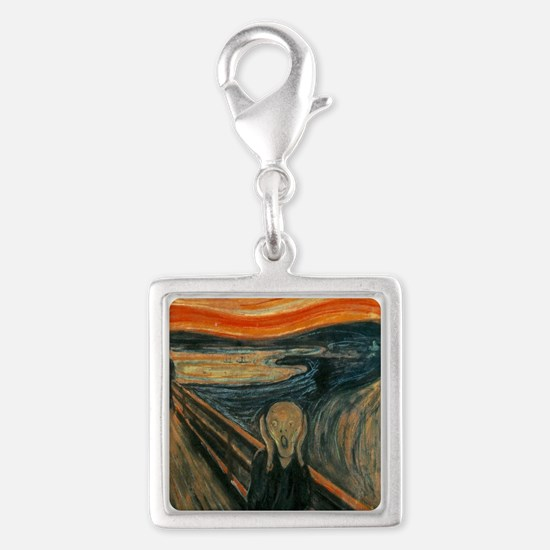 The Scream by Munch Silver Square Charm