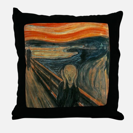 The Scream by Munch Throw Pillow