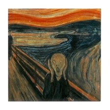 The Scream by Munch Tile Coaster