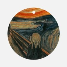 The Scream by Munch Round Ornament