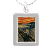 The Scream by Munch Silver Portrait Necklace