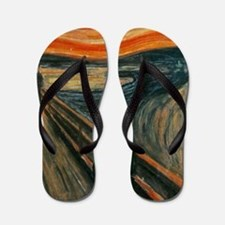 The Scream by Munch Flip Flops