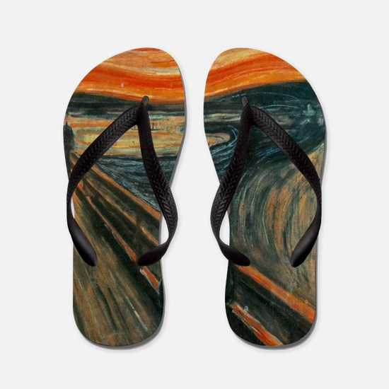 The Scream by Munch Flip Flops