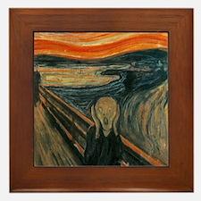 The Scream by Munch Framed Tile