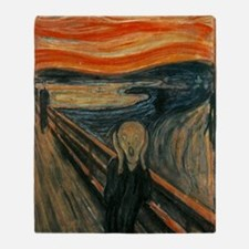 The Scream by Munch Throw Blanket