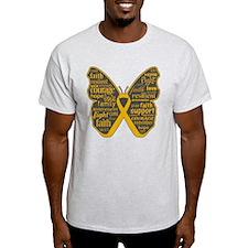 Butterfly Appendix Cancer Ribbon T-Shirt