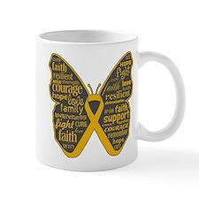 Butterfly Appendix Cancer Ribbon Mug