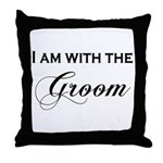 With the Groom Throw Pillow