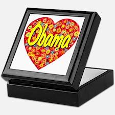 2010_obama_script_transparent Keepsake Box