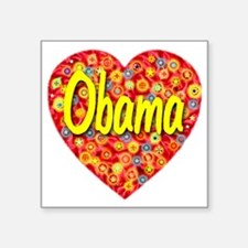 """2010_obama_script_transpare Square Sticker 3"""" x 3"""""""