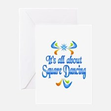 About Square Dancing Greeting Card