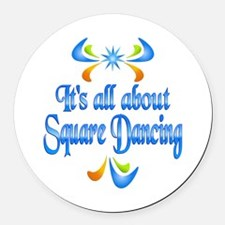 About Square Dancing Round Car Magnet