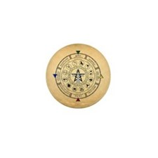 Wheel of the Year Zodiac Sabbats Mini Button