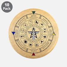 "Wheel of the Year Zodiac Sabbats 3.5"" Button (10 p"