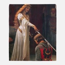 The Accolade by Blair Leighton Throw Blanket