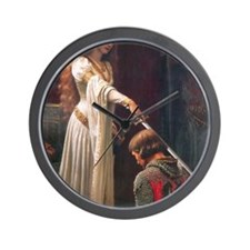 The Accolade by Blair Leighton Wall Clock