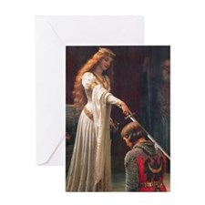 The Accolade by Blair Leighton Greeting Card
