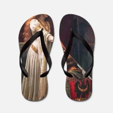 The Accolade by Blair Leighton Flip Flops