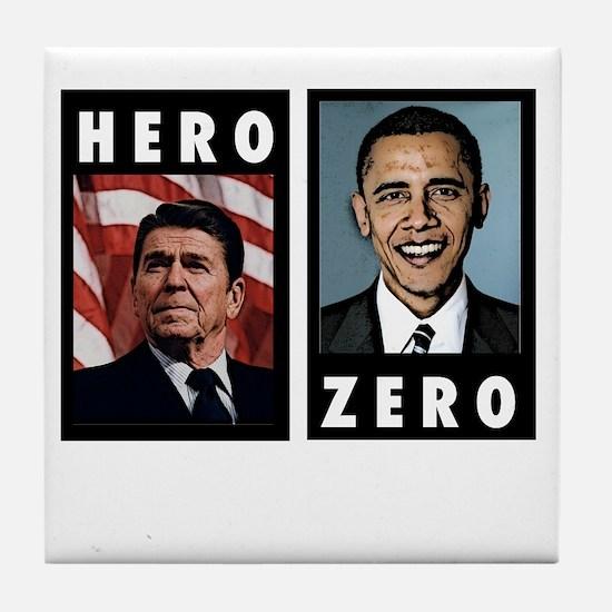 zerohero2forblack Tile Coaster