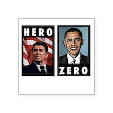"""zerohero2forblack Square Sticker 3"""" x 3"""""""