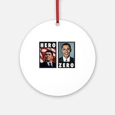 zerohero2forblack Round Ornament