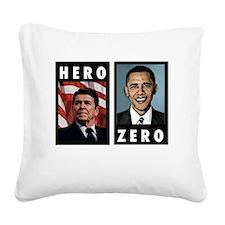 zerohero2forblack Square Canvas Pillow