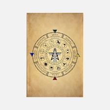 Wheel of the Year Zodiac Sabbats Magnets