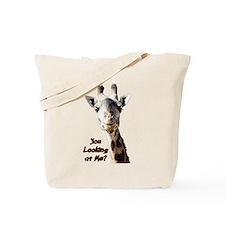 You Looking at Me? giraffe Tote Bag