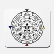 Wheel of the Year Zodiac Sabbats Mousepad