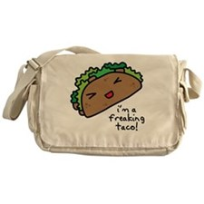im a freaking taco Messenger Bag