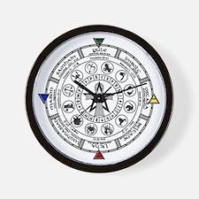 Wheel of the Year Zodiac Sabats Wall Clock