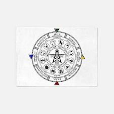Wheel of the Year Zodiac Sabats 5'x7'Area Rug