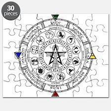 Wheel of the Year Zodiac Sabats Puzzle