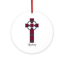 Cross - Lindsay Ornament (Round)