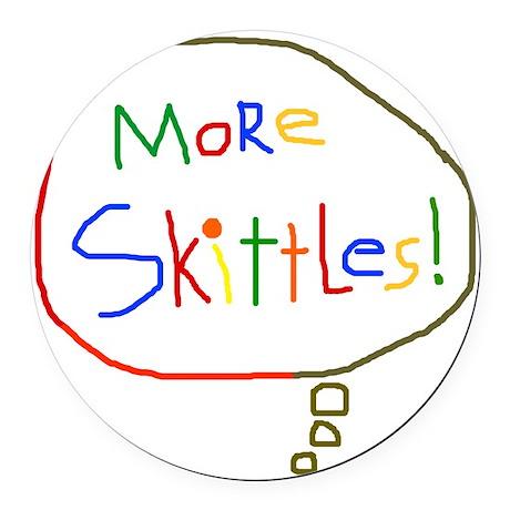 MoreSkittlesDK Round Car Magnet