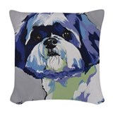 Shih tzu Woven Pillows