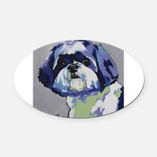 ShihTzu - Ringo s6 Oval Car Magnet