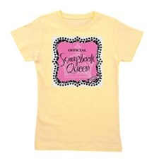 queen badge-mid Girl's Tee