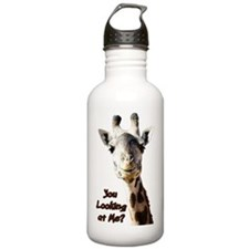 You Looking at Me? giraffe Water Bottle