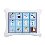 Snow Folks 5x7 Rectangular Canvas Pillow